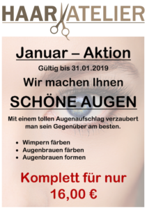 Schöne Augen - Januar 2019 Aktion